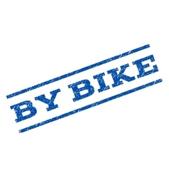 By Bike Watermark Stamp vector