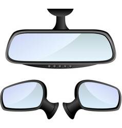 Car mirror set vector