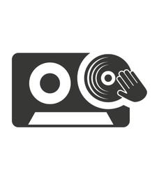 cassette retro with audio icon vector image