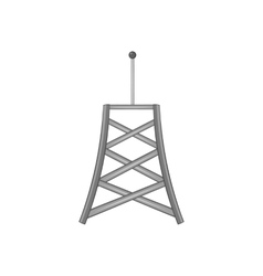 Cell phone tower icon black monochrome style vector image
