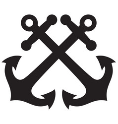 crossed anchors design vector image