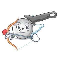 cupid pizza cutter knife cartoon for cutting vector image