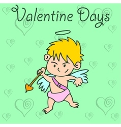 Cupid valentine days collection vector