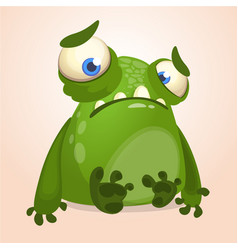 cute cartoon monster halloween vector image