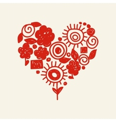 cute doodle heart vector image