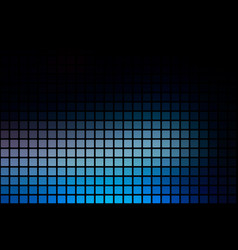 Deep and pale blue abstract rounded mosaic vector
