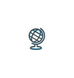earth globe icon design stationery icon design vector image