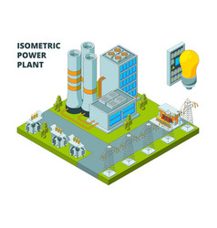 electric power factory industrial electricity vector image