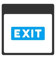 Exit Caption Calendar Page Toolbar Icon vector image