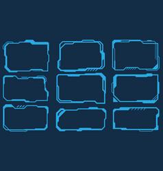 futuristic technology set frames square virtual vector image