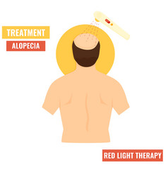 Hair growth stimulation red light therapy vector