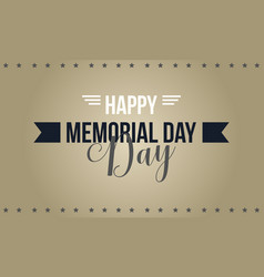 Happy memorial day collection stock style vector