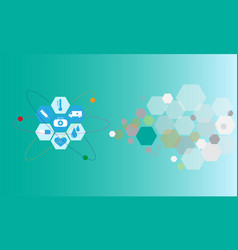 healthcare technology graphic design flat icons vector image
