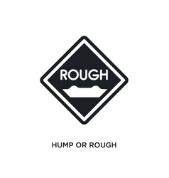 Hump or rough isolated icon simple element from vector