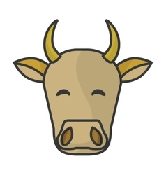 Indian cow head vector