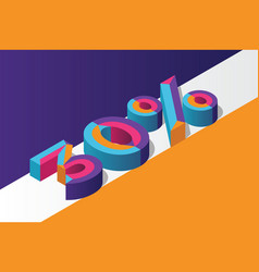 isometric 30 percent off 3d sale background vector image