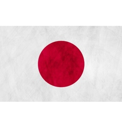Japanese grunge flag vector image