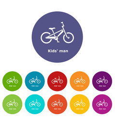 kids man bike icon simple style vector image