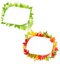 Leafs And Blank Gift Tag vector