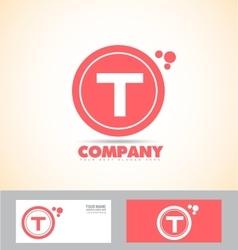 Letter T pink logo vector