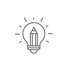 light bulb with pencil inside vector image