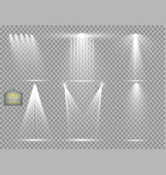 Light sources concert lighting stage spotlights vector