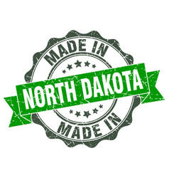 Made in north dakota round seal vector