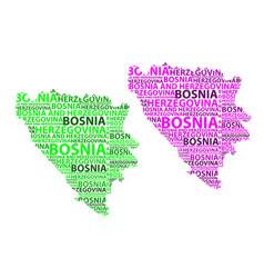Map of bosnia and herzegovina vector