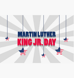 Martin luther king jr day poster vector