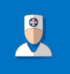 Medical icon doctor medic in a flat style 1 vector