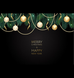 merry christmas and happy new year xmas vector image