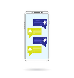 mobile couple chating vector image