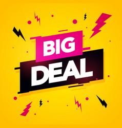modern sale label dynamic big deal banner vector image