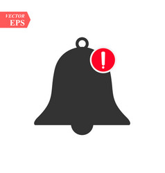 New notification icon hand bell sign isolated on vector
