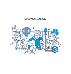 new technology innovation research start up vector image