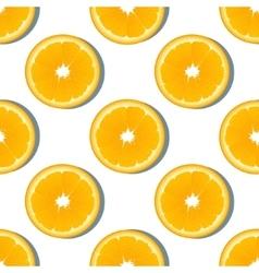 Orange slice fruit seamless pattern Citrus vector