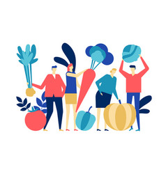 Organic food - flat design style colorful vector