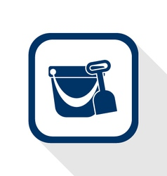 pail shovel flat icon vector image