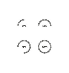 percentage scale simple vector image