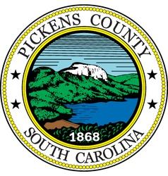 Pickens county seal vector