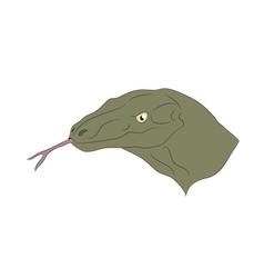 portrait of a lizard vector image
