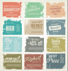premium best choice grunge banner collection vector image