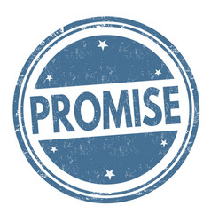 Promise sign or stamp vector