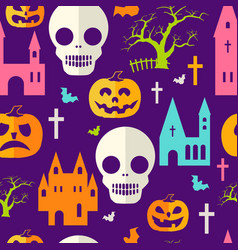 pumpkin halloween pattern vector image
