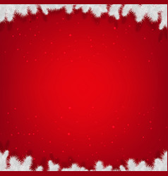 red winter xmas poster vector image