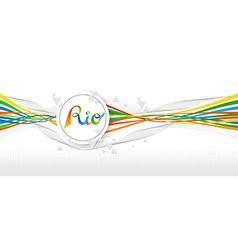 Rio Brazil color banner design with abstract art vector