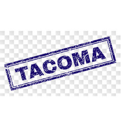 Scratched tacoma rectangle stamp vector
