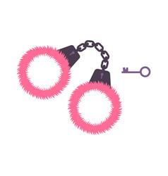 Sex handcuffs icon vector