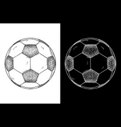 soccer ball hand drawn sketch vector image