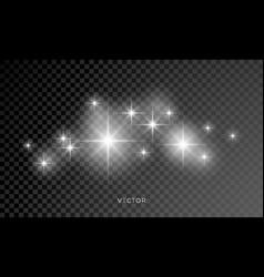 star shine glitter sparkles lens flare glow blur vector image